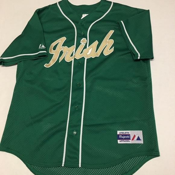 on sale c721f 21c52 Rare Majestic Notre dame Irish baseball jersey